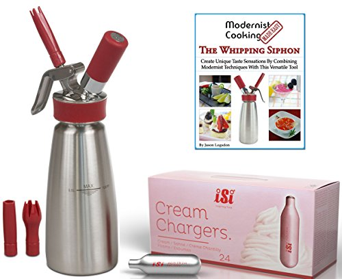 Combo- iSi Gourmet Pint- 24 iSi Chargers- Whipping Siphon...