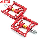 """Alston Mountain Bike Pedals Cr-Mo CNC Machined 9/16"""" Cycling Sealed 3 Bearing Pedals"""