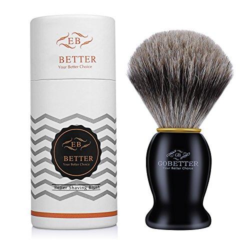GoBetter 100% Authentic Pure Badger Hair Bristles Shaving Brush, Professional Men's Shaving...