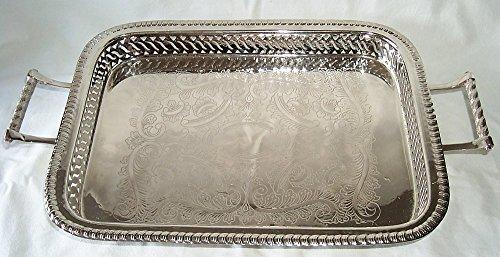 Gran estilo Art Nouveau bandeja, bandeja bañado en plata: Amazon.es: Hogar