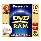 Panasonic LM-AF30U3 8CM Rewritable DVD-RAM for Camcorders (3 Pack)