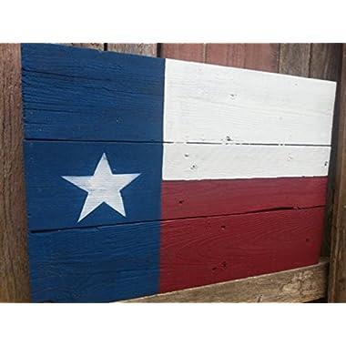 Barnwood Texas Flag
