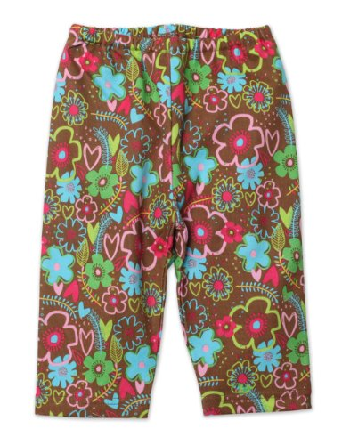 Zutano Baby-Girls Newborn Sugar Bramble Pant, Chocolate, New Born/Preemie