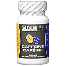 SPORTS NUTRITION SOURCE Caffeine Tablets, 100 Count, 200mg