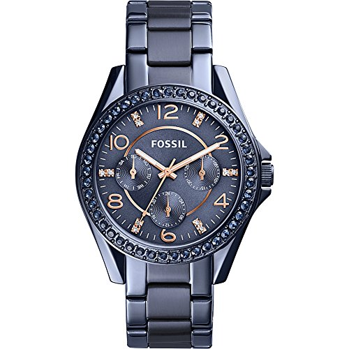 Fossil-Riley-Multifunction-Blue-Stainless-Steel-Watch