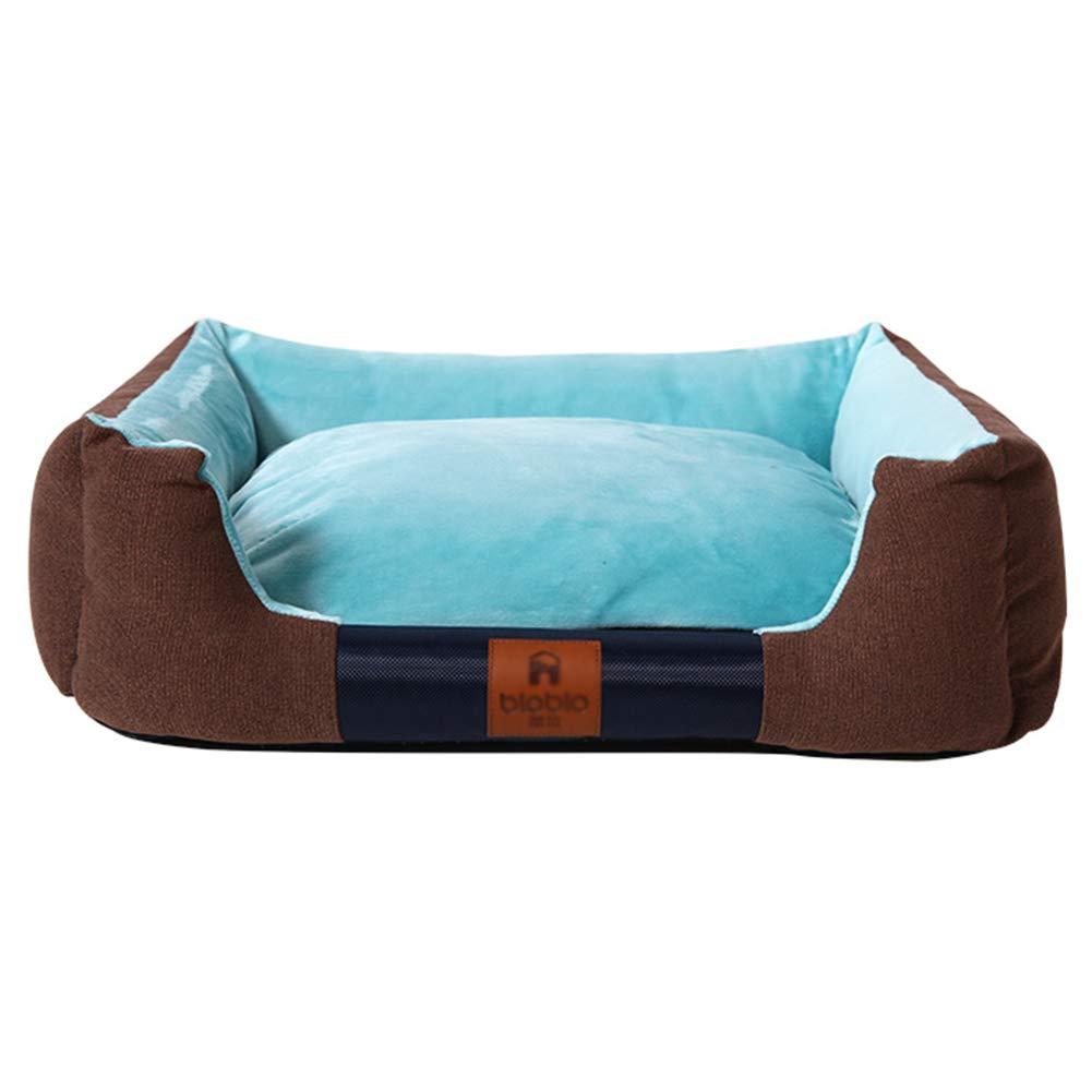犬ベッド 暖かい溝のある犬用ベッドのペットバスケット、取り外し可能な洗えるカバー、滑り止めの底、5色のオプション (色 : カーキ, サイズ さいず : XXL 110×80×20cm) B07MXHXB9C 青 XXL 110×80×20cm XXL 110×80×20cm|青