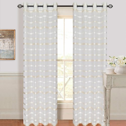 bedford-home-arla-grommet-single-curtain-panel-84-inch-white-cream