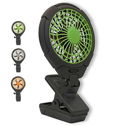 O2COOL 5 Battery Operated Clip Fan - Adjustable, Rotating, Tilt & Swivel Feature Portable Fan | AA Battery | 2 Speed | for Camping, Outdoors, Travel, Office Desk & Dorm Room