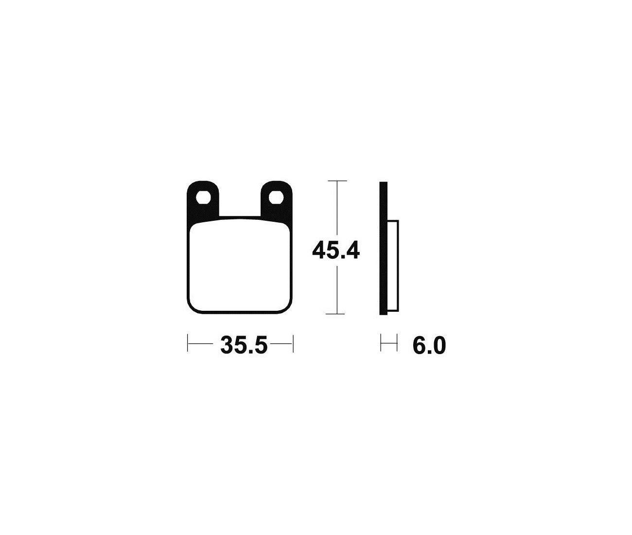 PLAQUETTES DE FREIN ARRIERE-ME59 APRILIA 50 RS//RX//SX//CPI 50-125 SUPERMOTO//SHERCO SE-R//SM-R