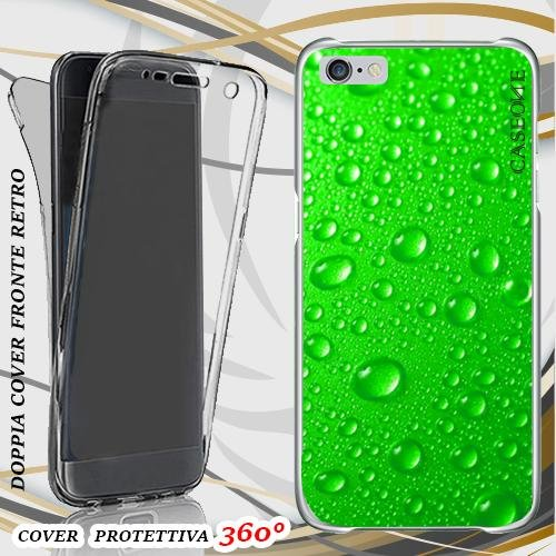 CUSTODIA COVER CASE GREEN RAIN PER IPHONE 6 FRONT BACK