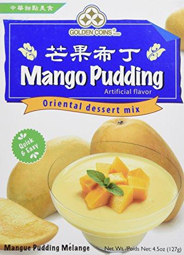 Golden Coins Brand Mango Pudding Oriental Dessert Mix, 4.5oz. (127g), 1 Box