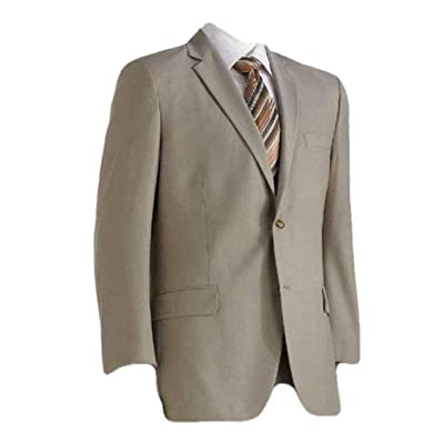 Apt 9 Mens Tan Slim Fit Luxury Polyester Rayon Blend Suit Jacket at Men's Clothing store