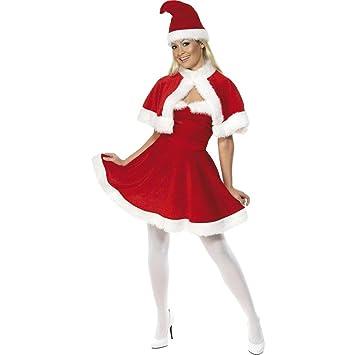 Amakando Traje Navidad Mujer Disfraz de Mamá Noel L 44/46 Ropa ...