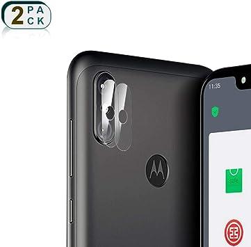 2x Pieza Protector de Lente Cámara para Motorola Moto One Power ...