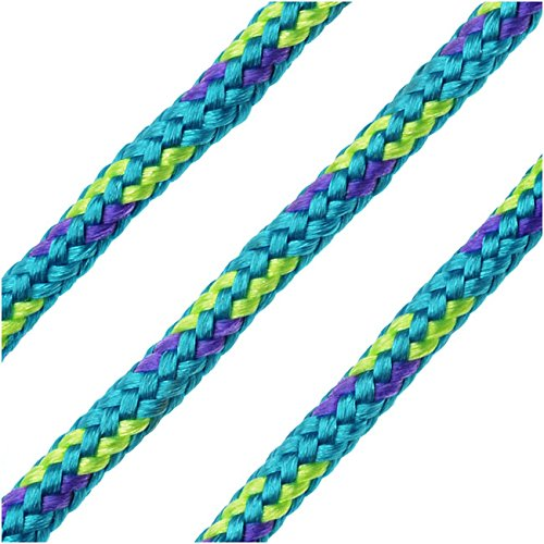 Parachute Cord, Multi-Colored Nylon Strands 2.5mm Thick, 5 Meters, Turquoise