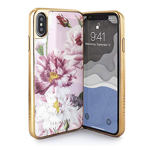 Ted Baker Fashion Scratch Resistant Premium Tempered Glass Case for iPhone Xs Max, Protective Cover iPhone Xs Max for Professional Women/Girls - Iguazu