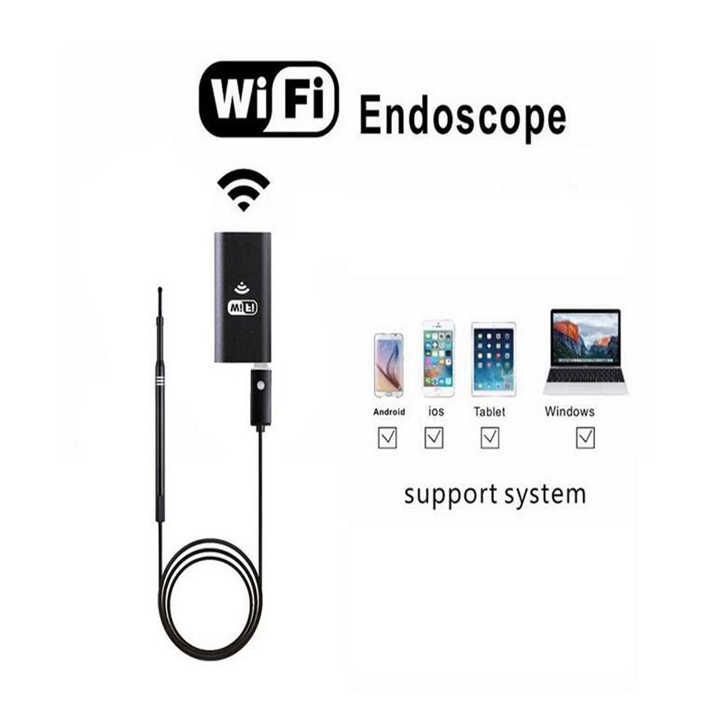 JIN Wifi 5.5Mm Lens Visual Ear Otoscope Borescope Inspection For Android And IOS Smartphone, Iphone, Samsung, Tablet