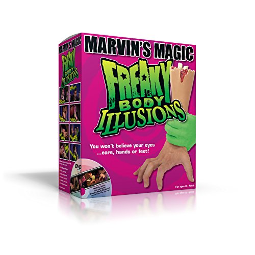 Marvin's Magic Freaky Body Illusions Magic Set - Perfect Magic Trick Set for Halloween.Professional Magic Made Easy ()