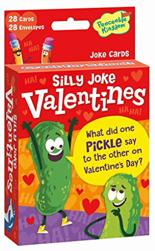 Peaceable Kingdom, Card Valentine Jokes Pack, 1 Count (Day Exchange)
