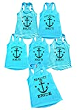 Bridal Party Tank Top Set 6 Pieces Lets Get Nauti Bachlorette Party - Funny Threadz (Message Us The Sizes)