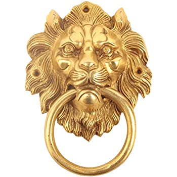 From The Anvil 33020 Lionu0027s Head Door Knocker   Polished Brass By From The  Anvil