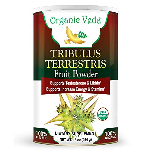 Organic Tribulus Terrestris Powder 1 Lb. USDA Certified Organic. Raw Organic Super Food Supplement. Non GMO and Gluten Free