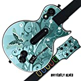 Mightyskins Protective Skin Decal Cover Sticker for GUITAR HERO 3 III PS3 Xbox 360 Les Paul - Butterfly Blues