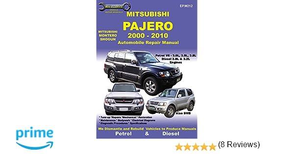 Mitsubishi pajero 2000 to 2010 max ellerys vehicle repair mitsubishi pajero 2000 to 2010 max ellerys vehicle repair manuals editors ellery publications 9781876720216 amazon books fandeluxe Gallery