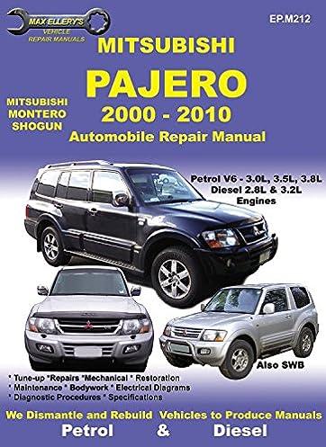 mitsubishi pajero 2000 to 2010 max ellery s vehicle repair manuals rh amazon com