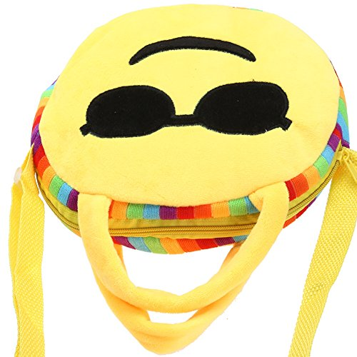 Enfants Ronde Cartable Cabina Face Expression La Peluche Toy Emoji À style 7 À Sacs Dos En Main Mode Sac p8qxnq7