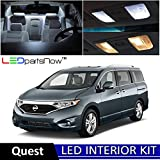 nissan quest side steps - LEDpartsNow 2011-2016 Nissan Quest LED Interior Lights Accessories Replacement Package Kit (8 Pieces), WHITE