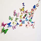 color schemes for bedrooms 72 Pcs 3d Butterfly Stickers Home Decoration DIY Removable 3d Vivid Special Man-made Lively Butterfly Art DIY Decor Wall Stickers for Wall Decor Kids Room Bedroom Living Room 6 Colors