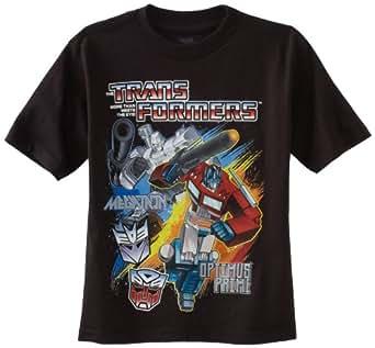 Transformers Little Boys' Short Sleeve T-Shirt Shirt, Black, 4