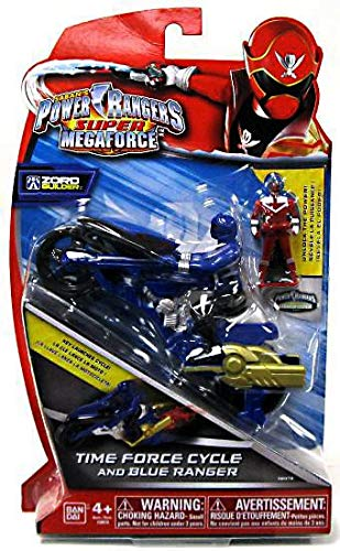 Power Rangers Super Megaforce Time Force Cycle and Blue ()