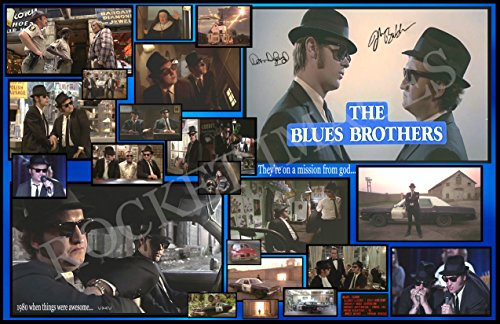 BLUES BROTHERS 1980 !!! Custom Movie Poster 11x17 Buy 2 Posters Get 3rd FREE!!! Dan Aykroyd John (Buy Customs)