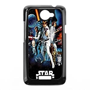 HTC One X Cell Phone Case Black Star Wars Darth Vader Luke Skywalker Han Solo Leia Chewbacca Colorful Sci Fi Poster Blockbuster Uuffs