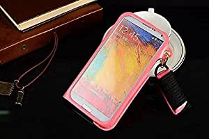 YOUNGFLY One Piece Wallet PU Leather Flip Stand Lanyard Case Cover For Samsung Galaxy Note 3 N9000 Pink