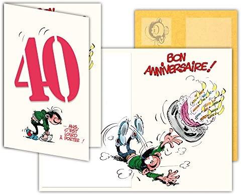 Gaston Lagaffe glct-6055 tarjeta de cumpleaños 40 años ...