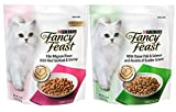 Fancy Feast Purina Gourmet Cat Food (2) Flavor Variety Bundle: (1) Filet Mignon with Real Seafood & Shrimp,and (1) Ocean Fish & Salmon and Accents of Garden Greens, 16 Ounces Each Larger Image