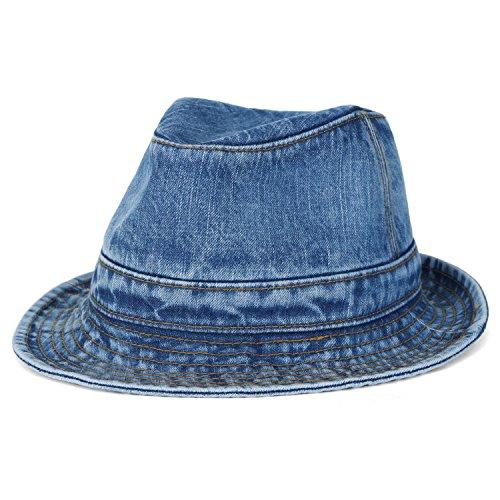 Denim Classic Fedora Hat