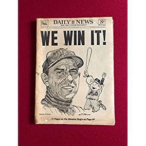 "1969, New York Mets,""WE WIN IT"", NY Daily News Newspaper (Complete) Scarce Autographed MLB Magazines"