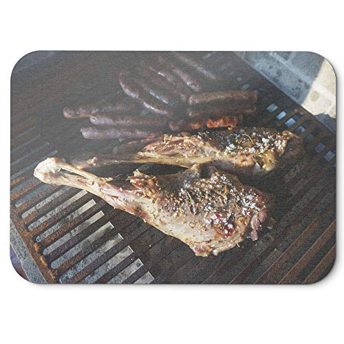 Westlake Art - Barbecue Grill - Mouse Pad - Non-Slip Rubber Picture Photography Home Office Computer Laptop PC Mac - 8x9 inch (D41D8)