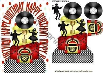 Rock N Roll Geburtstag Mit Aufschrift Dancers Von Nick Bowley