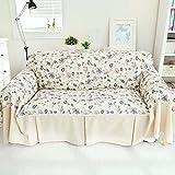 RUGAI-UE Sofa Slipcover Pastoral sofa cloth sofa covers tight non slip full frontal,300×200 wide,Laura