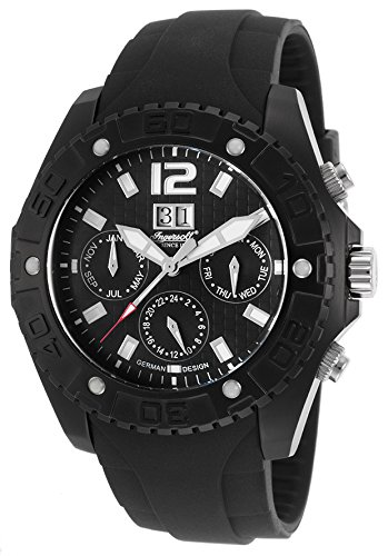 Ingersoll Men's IN1210BBK Yuca Analog Display Automatic Self Wind Black Watch