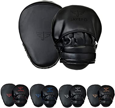 Jayefo boxing gloves /& Focus Mitts leather Sparring gloves kick boxing muay thai