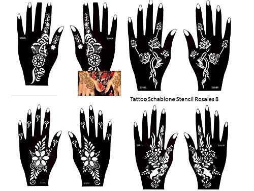 Tattoo Stencil Template 8 Sheet Set New Designs Rosales