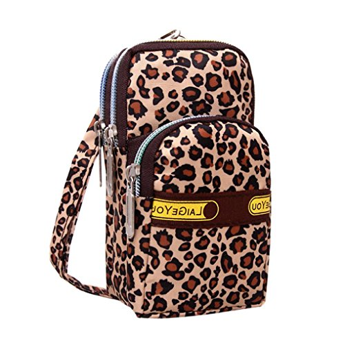 Luoluoluo Women's Outdoor Wrist Bag Printing Zipper Sports Shoulder Bag Mini Wrist Bag B