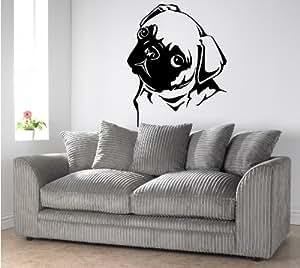 Amazon.com: PUG DOG WALL ART, Sticker, Mural, Giant, Large