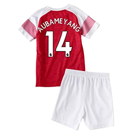 Image Unavailable. Image not available for. Color  UKSoccershop 2018-2019  Arsenal Home Little Boys Mini Kit (Pierre Emerick Aubameyang ... 90153de83